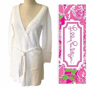 LILLY PULITZER•knit sweater wrap dress XS EUC